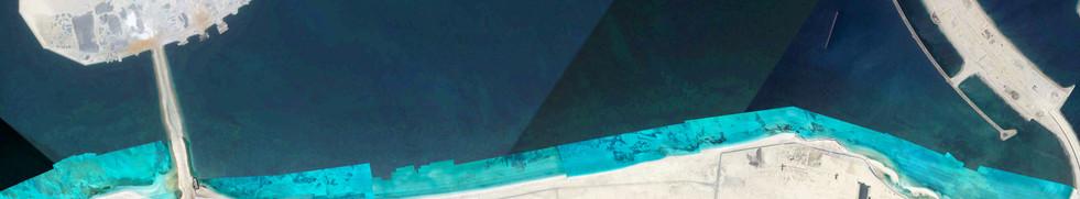 Seagrass ortho integrated into satelite map Jebel Ali