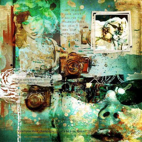 Carroll Baker collage