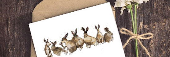 Hares Greeting Card