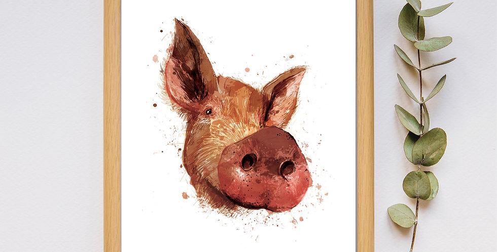 Mr Porky - Framed Print