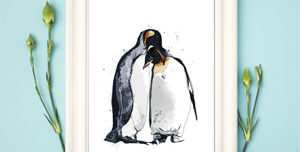 Penguins - Framed Print