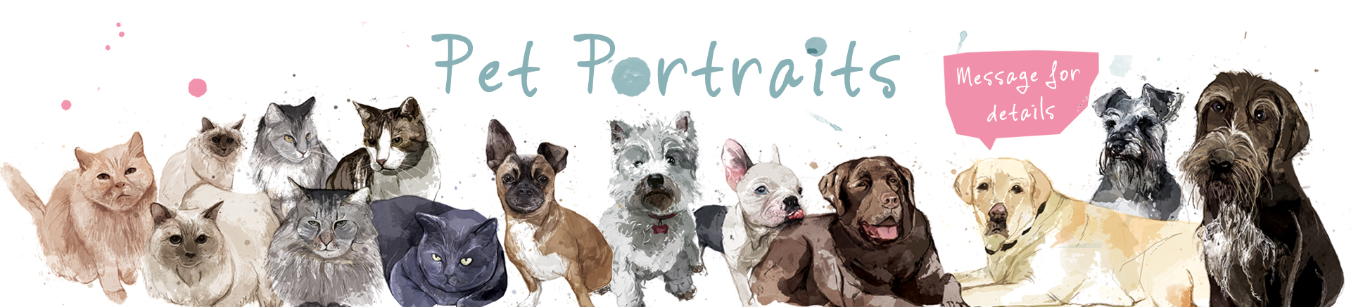 pet portraits slider