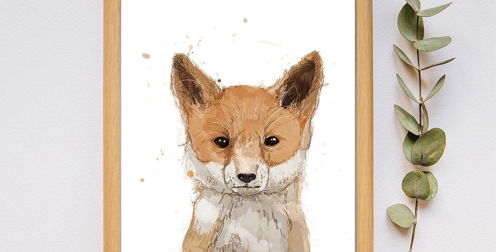 Fox - Framed Print