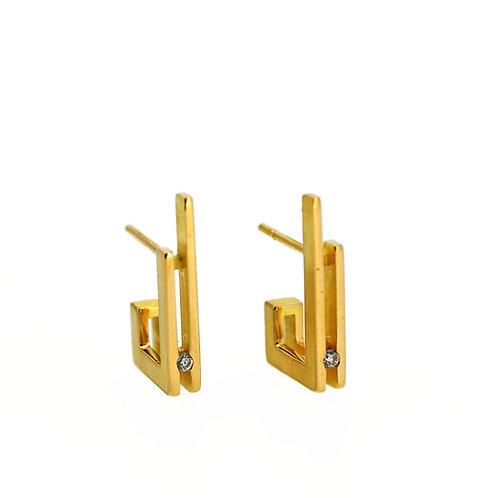 Golden ear studs