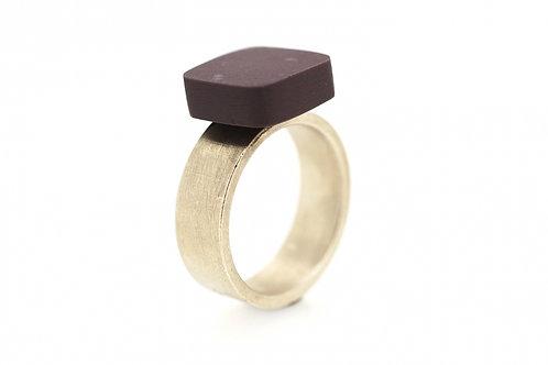 Staen Ring: Liquid Marble M, purple