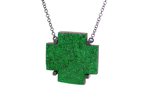 Green Cross pendant