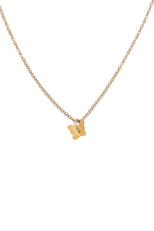 18krt gold butterfly pendant