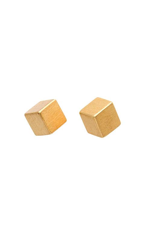 18krt golden earrings minimal