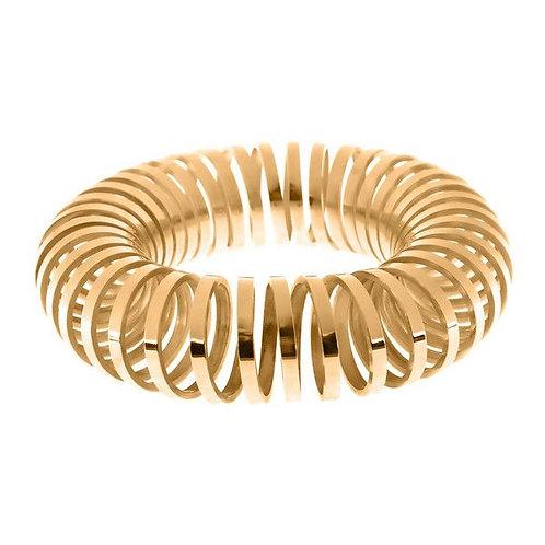 Big Spiral Bangle Gold