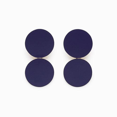 Double Stop Earrings Blue