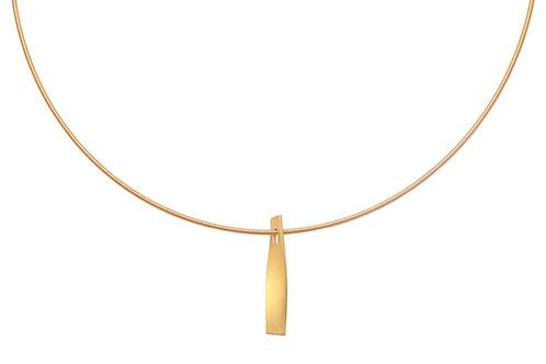 18krt yellow gold pendant minimal