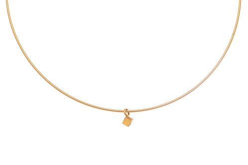 18krt yellow gold pendant minimal