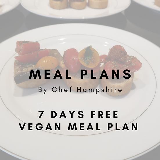 Free 7 Day Meal Plan - Week 1