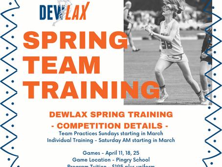 Spring Team Training Opportunity!