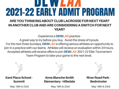 2021-22 Early Admit Program