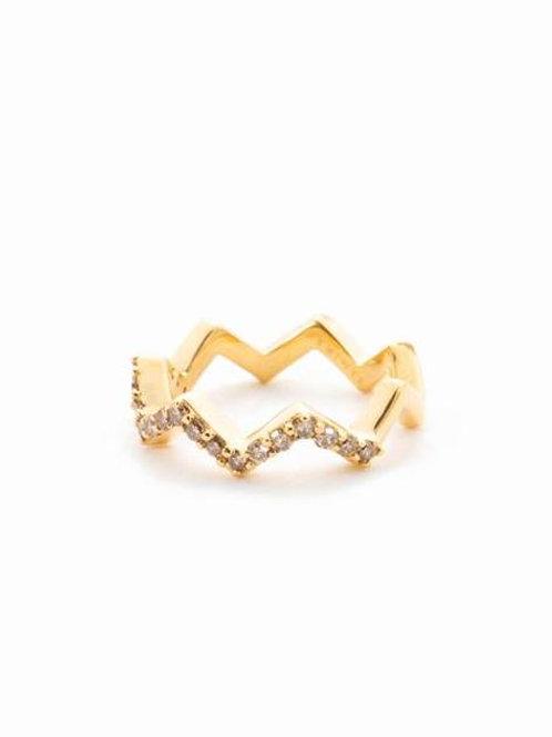 ZIG ZAG RING - GOLD