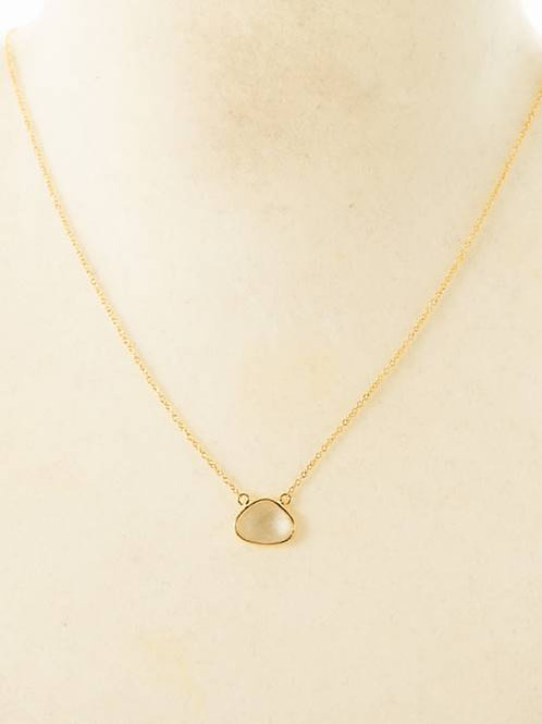 SLICE STONE NECKLACE -CLEAR