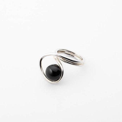 CURVE RING -BLACK