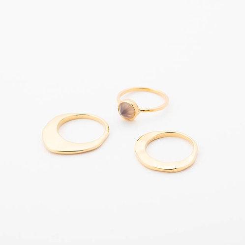 Trio Ring - GRAY BEIGE