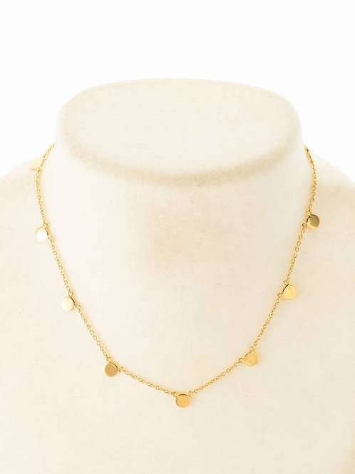 CIRCLE PLATE NECKLACE - GOLD