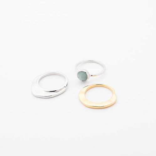 Trio Ring - BLUE