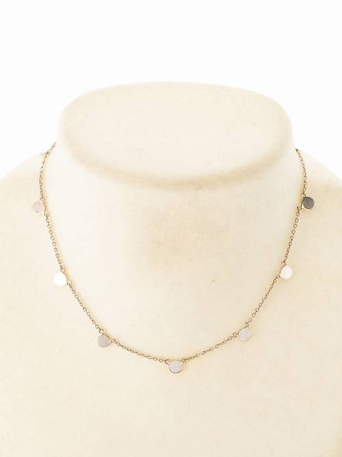 CIRCLE PLATE NECKLACE - SILVER