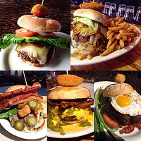shack bar and grill burger collage