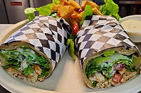 shack bar and grill chicken wrap