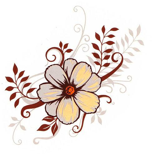 Žluto-hnědo-bílý květ