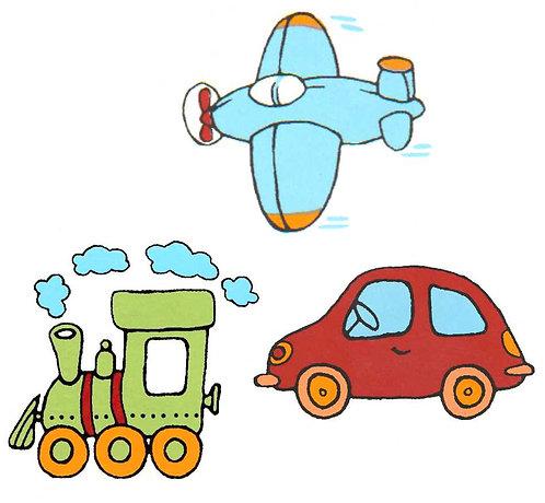 Auto, letadlo, mašinka