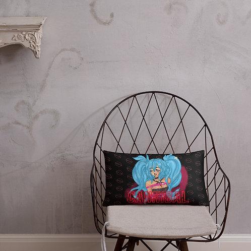 CANNIBAL Girl All-Over Print Cushion