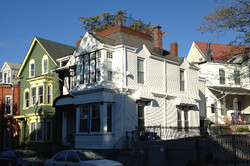 View of deck from street