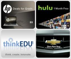 HP, Hulu, ThinkEdu, Chevy web ads