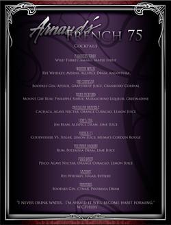 Arnaud's menu