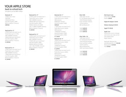 Apple store flyer