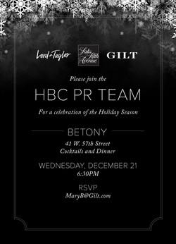 HBC PR invitation