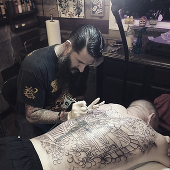 Elloy Garcia Tattooing at Old Glory Tattoos