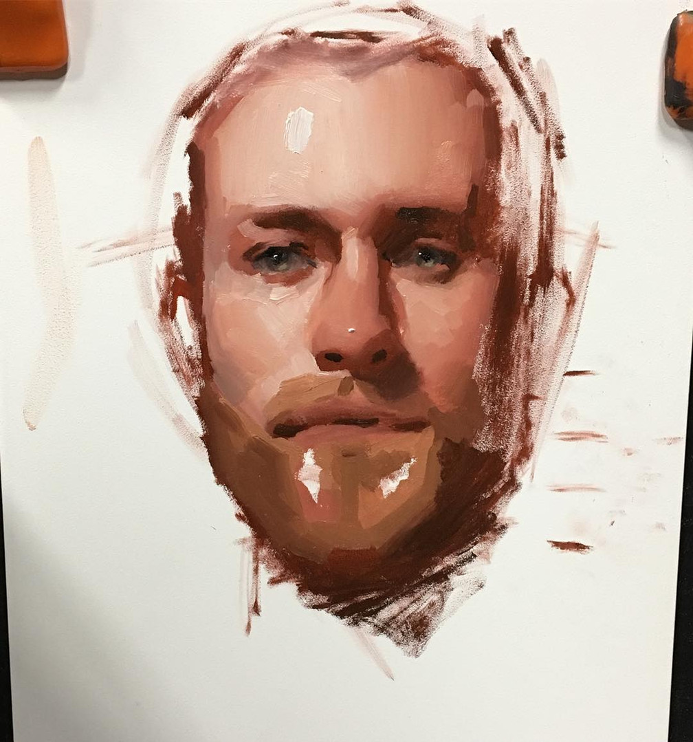 Portrait oil painting by Emilio Villalba