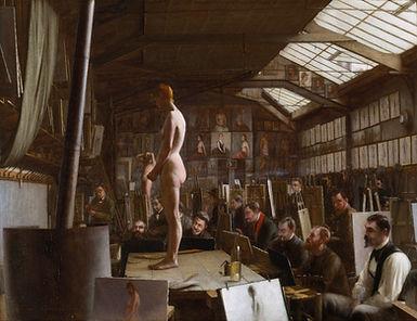 Painting of Bouguereau's Atelier StudioJefferson David Chalfant Museum: Fine Arts Museums of San Francisco