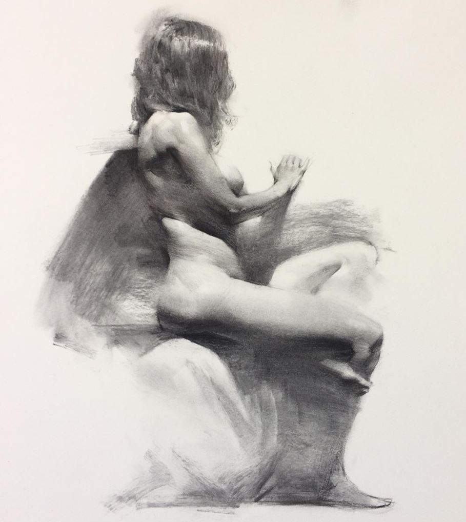 Figure drawing by Jacob Hankinson