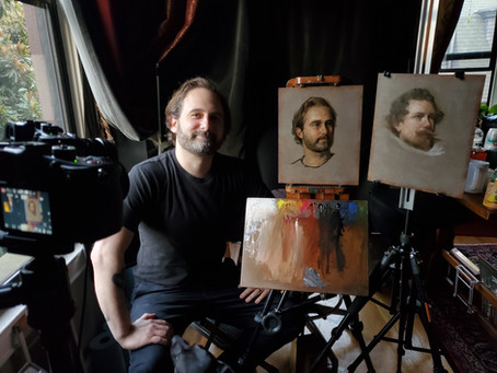 Portrait Painting From Master Copy and From Life: New Video Online Course