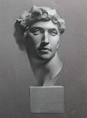 Cast Drawing of Michaelangelo's Medici Bust