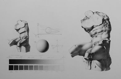 Bargue plate drawing in graphite by instructor Ian Hurtado