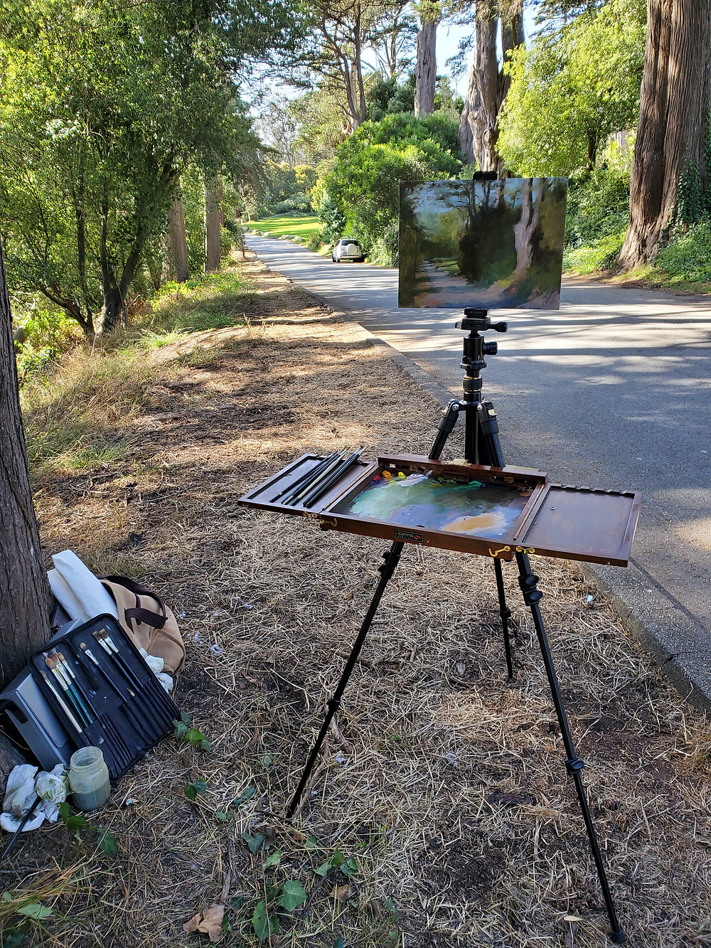 Plein air painting setup - Sadie Valeri