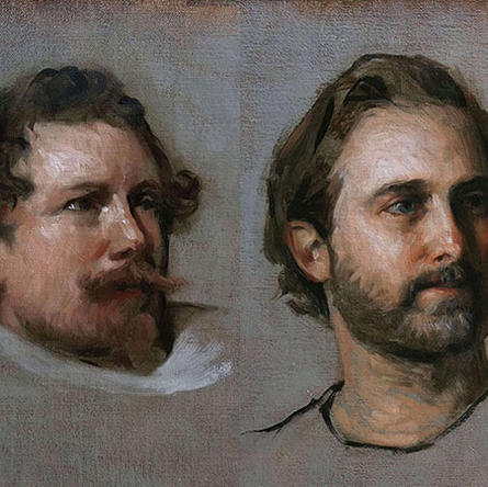 Portrait Painting From Master Copy and From Life
