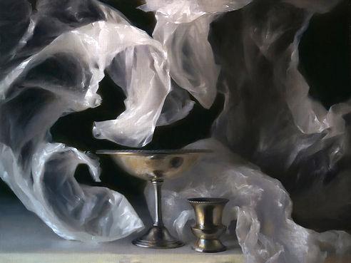Still life oil painting by Sadie Valeri - Undertow, 18x24