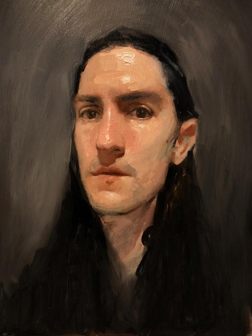 Self portrait oil painting by Emilio Villalba