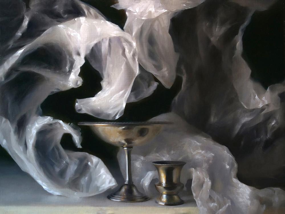 Still life oil painting by Sadie Valeri - Undertow
