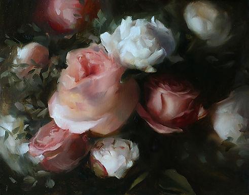 Painting by Sadie Valeri of Roses