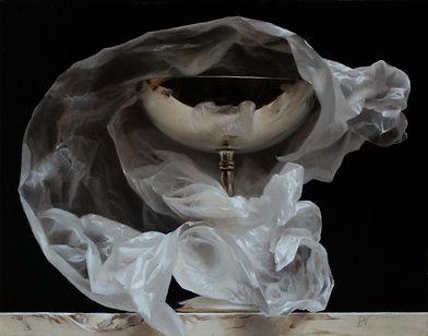 Painting by Sadie Valeri: Wrapped Silver Goblet